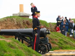 Firing of the noon canon at the Citadel