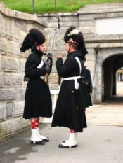 Halifax Citadel guards in uniform.