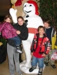 Bonhomme at the Quebec Winter Carnival.
