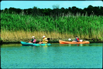 Kayaking in the Outer Banks.