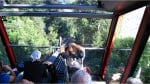 Down the Swiss mountains on the Harderbahn funicular.