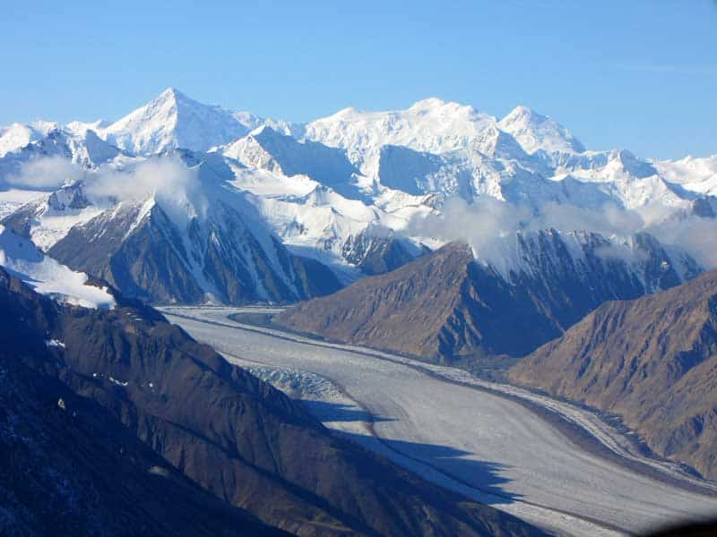 Glaciers of Kluane UNESCO World Heritage Site.
