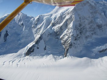 Flying through Kluane National Park--UNESCO World Heritage Site.
