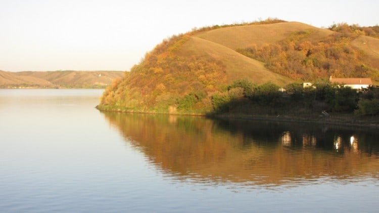South side of Mission Lake in the Fort Qu'Appelle Valley.