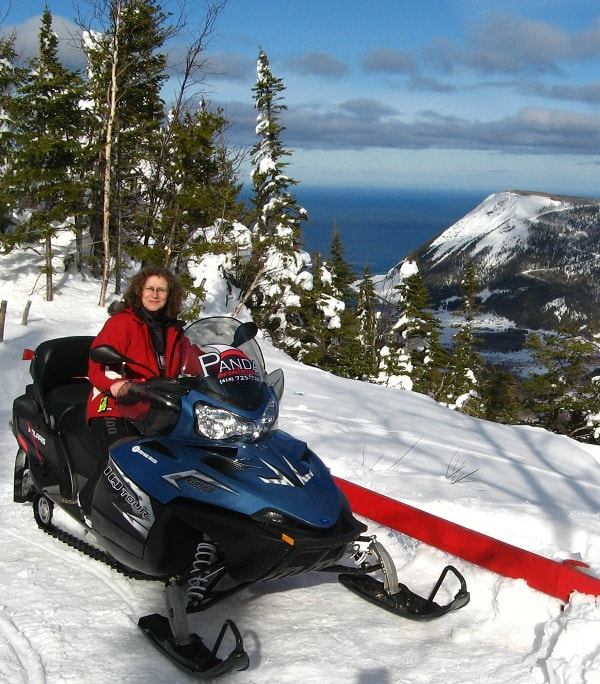 Snowmobiling Gaspe, Quebec