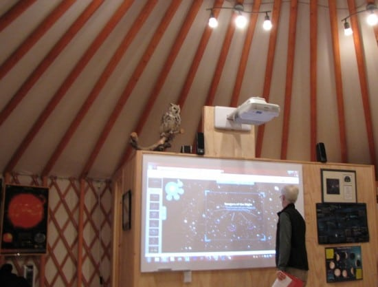 The classroom building at the new observatory in Cypress Hills Interprovincial Park.