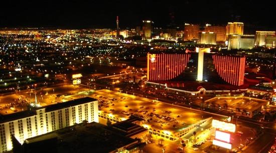 Las Vegas, Nevada, by night! Photo by Linda Aksomitis.