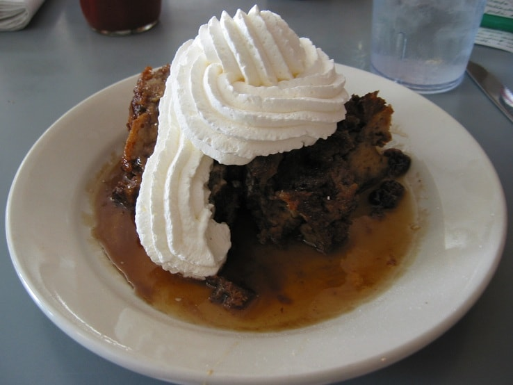 Bread pudding at King Neptune's Seafood Restaurant in Gulf Shores, Alabama.
