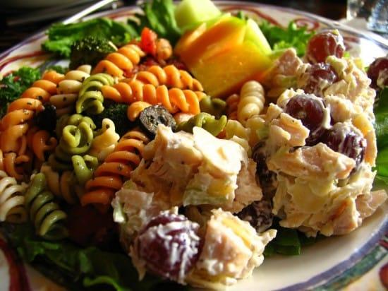 Mom's chicken salad at Frank's Italian Restaurant in Sheffield, Alabama.