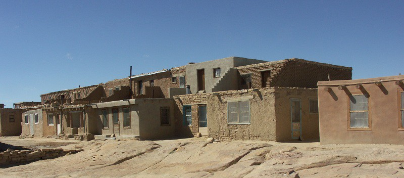 Pueblo people in Sky City in New Mexico.