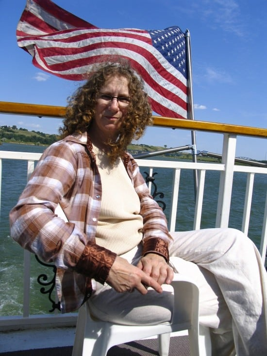 Linda Aksomitis on the Lewis & Clark Riverboat