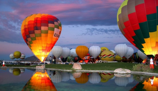 Albuquerque International Balloon Festival. Photograph courtesy of Albuquerque International Balloon Fiesta, Inc.