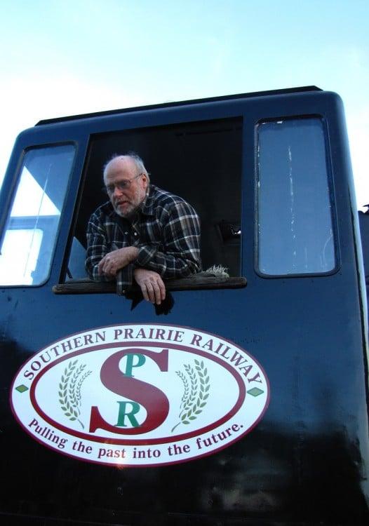 Engineer on the Southern Prairie Railway in Ogema, Saskatchewan.