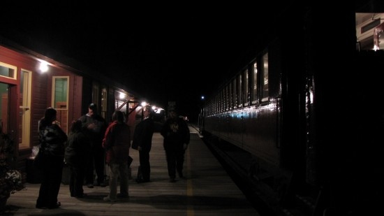 Ogema train station for the Southern Prairie Railway at the end of the Stargazing Tour.