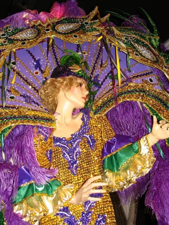 Costume in the Mardi Gras Museum of Imperial Calcasieu.