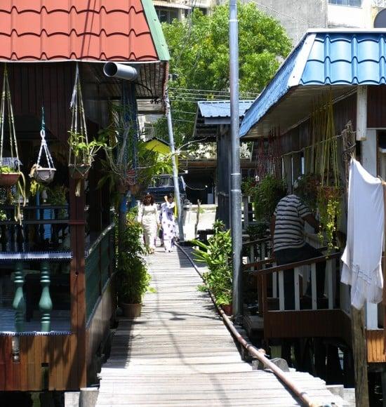 Water Village at Sandakan Jetty.