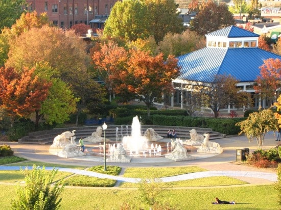 Coolidge Park and Carousel in Chattanooga, TN.