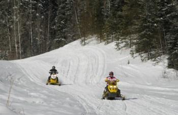 Winter snowmobile trip to Waskesiu, Saskatchewan.