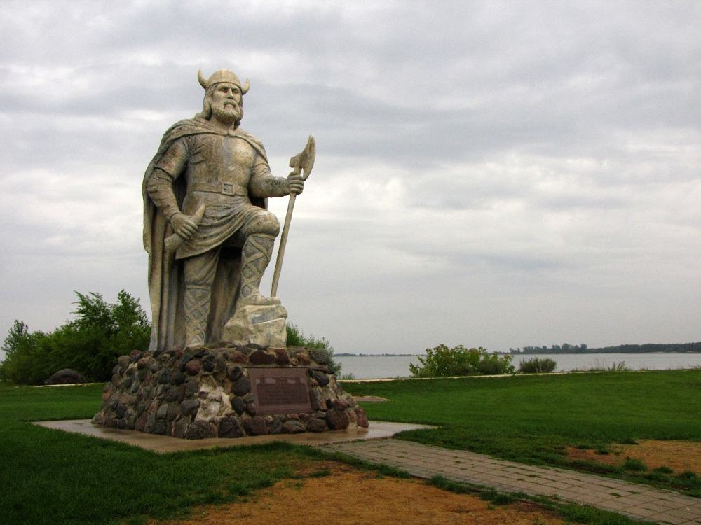 Viking statue in Gimli, Manitoba.
