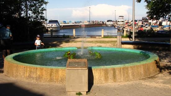 Fountain in Gimli Rotary Park