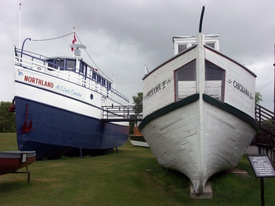 M.S. Lady Canadian and the Chickama II ships at the Maritime Museum of Manitoba.
