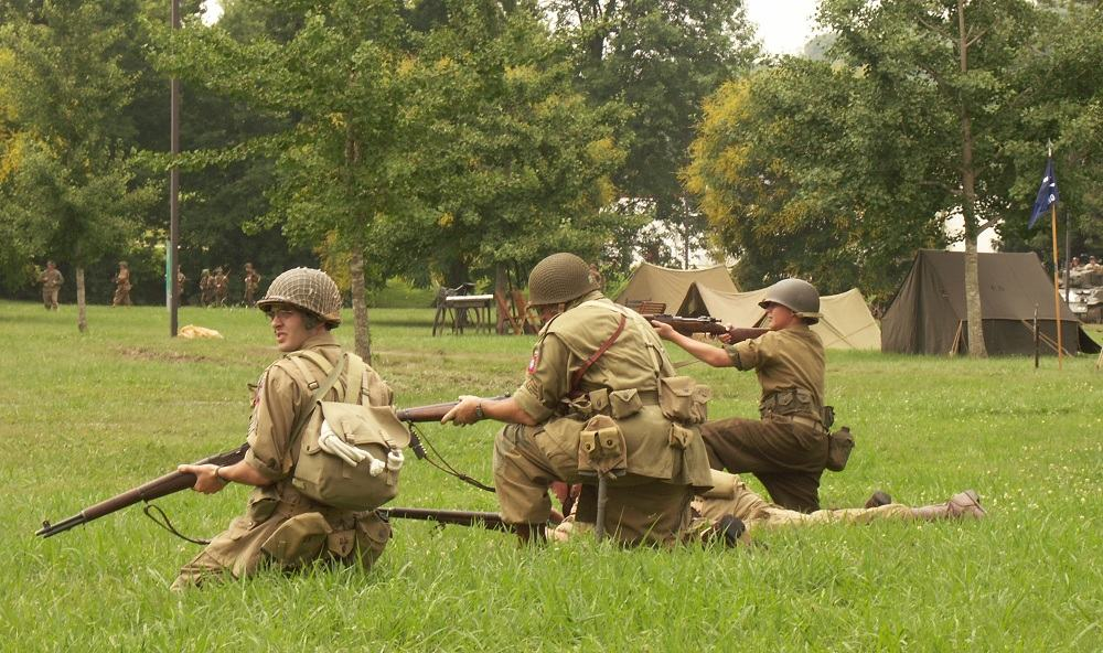 World War II Reenactors at the Secret City Festival, Oak Ridge, TN.