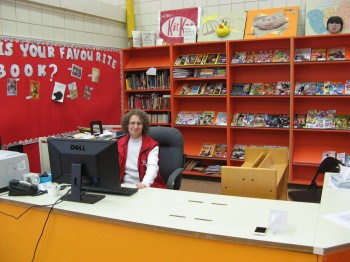 Linda Aksomitis at St. Pascal Community School in Green Lake, SK.