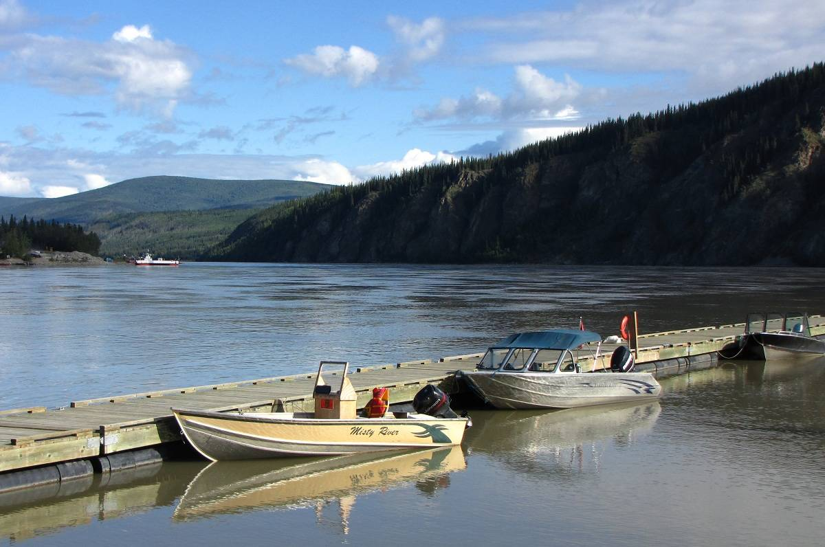 The Yukon River at Dawson City.
