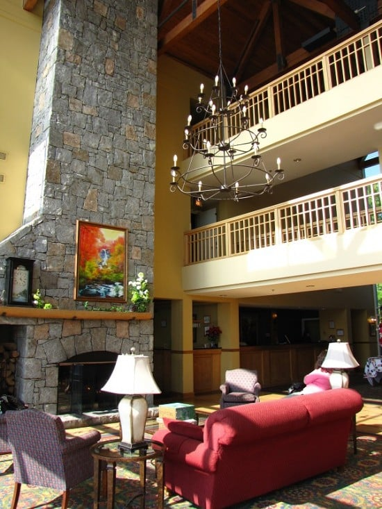 Inside Amicalola Falls Lodge