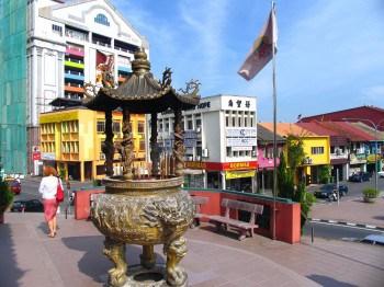 Downtown in Kuching, Sarawak, Malaysia