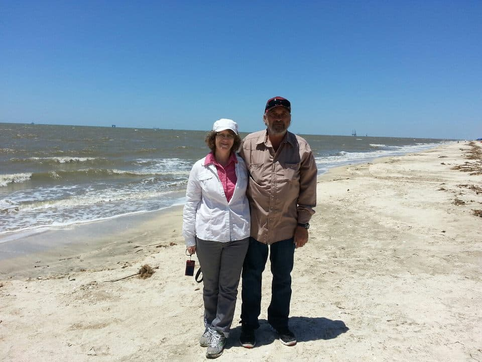 David and Linda Aksomitis on the Creole Nature Trail