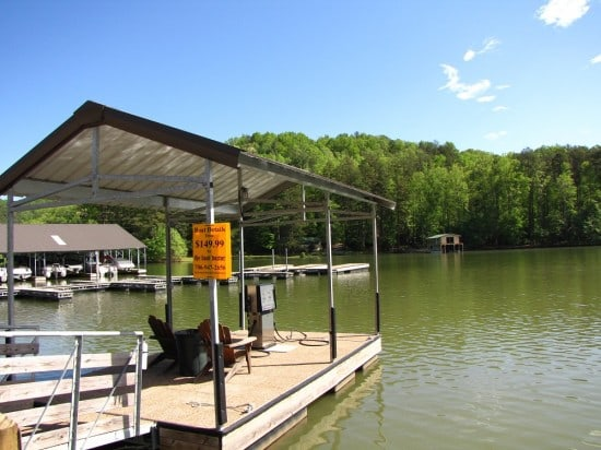 Fuel up your boat at LaPrade's Marina on Lake Burton.