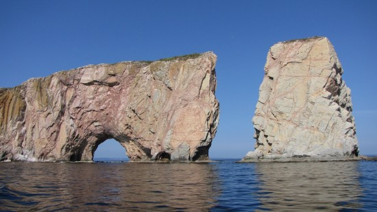 Percé Rock (also known as Rocher Percé) is a giant monolith off the GASPÉ PENINSULA,