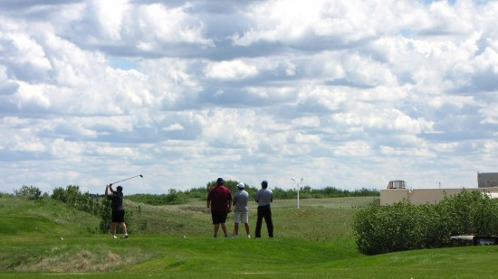 Golfers at Dakota Dunes