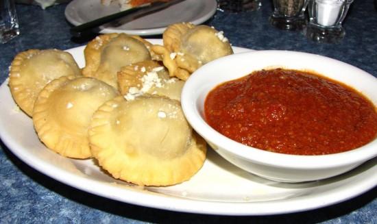 Toasted ravioli at Castelli's in Alton, Illinois.
