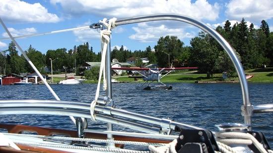 Sea plane on Amisk Lake