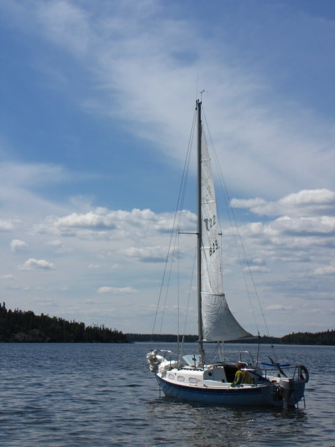 Sailboat on Amisk Lake.