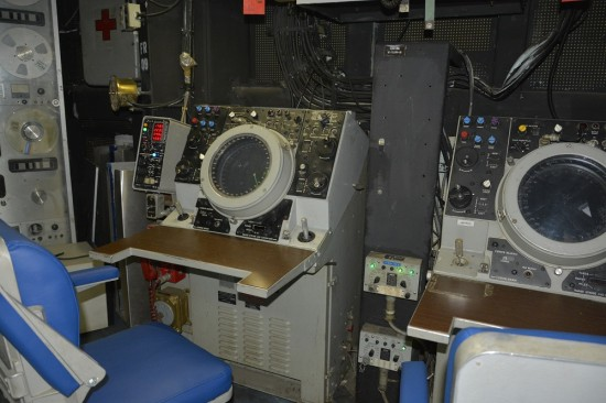 Some of the electronic equipment on board the USS New Jersey.