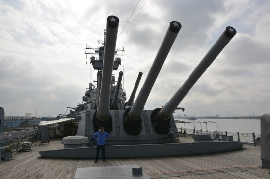 Guns on the USS New Jersey.