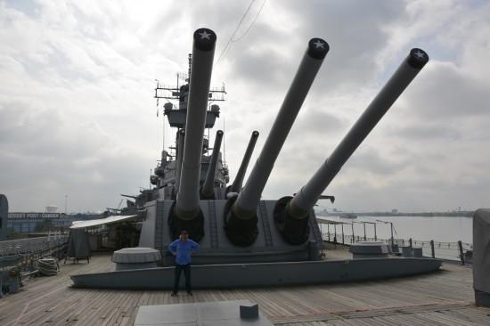 Guns on the USS New Jersey.