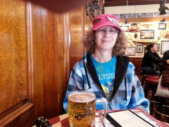 Linda Aksomitis at Cheers in Boston