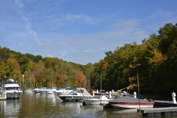 Marina at Mills Norrie State Park in New York state.