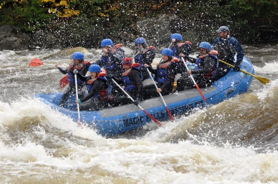Whitewater rafting. Photo courtesy of Magic Falls Rafting.