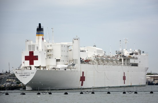 Nurse ship at Norfolk Naval Base.
