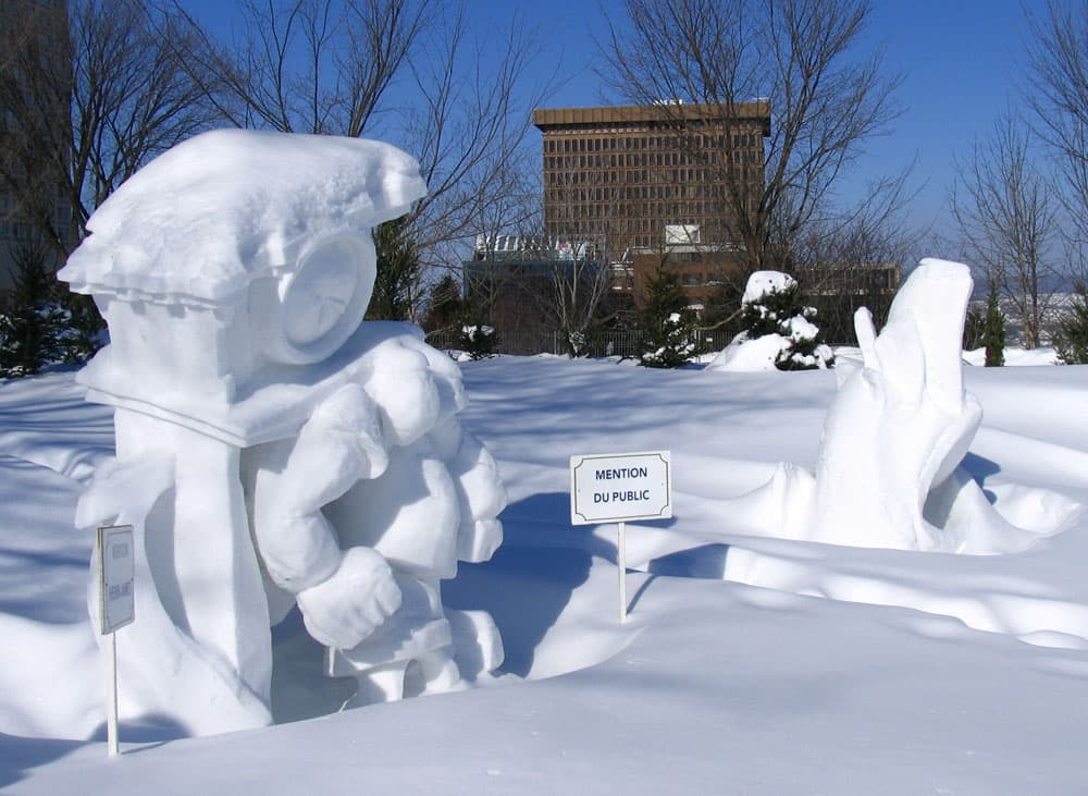 Snow Sculptures at the Quebec Winter Carnival–Friday Feature Photos