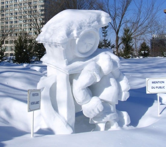 Snow sculpture at Quebec Winter Carnival. 2008.