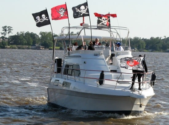 Here come the pirates on Lake Charles!