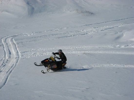 snowmobile carving