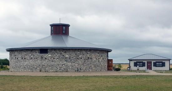 Round stone barn