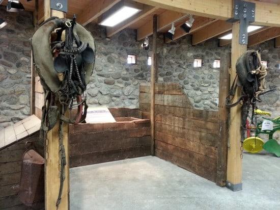 Stalls inside round barn